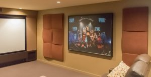Acoustic Panels in a theatre room