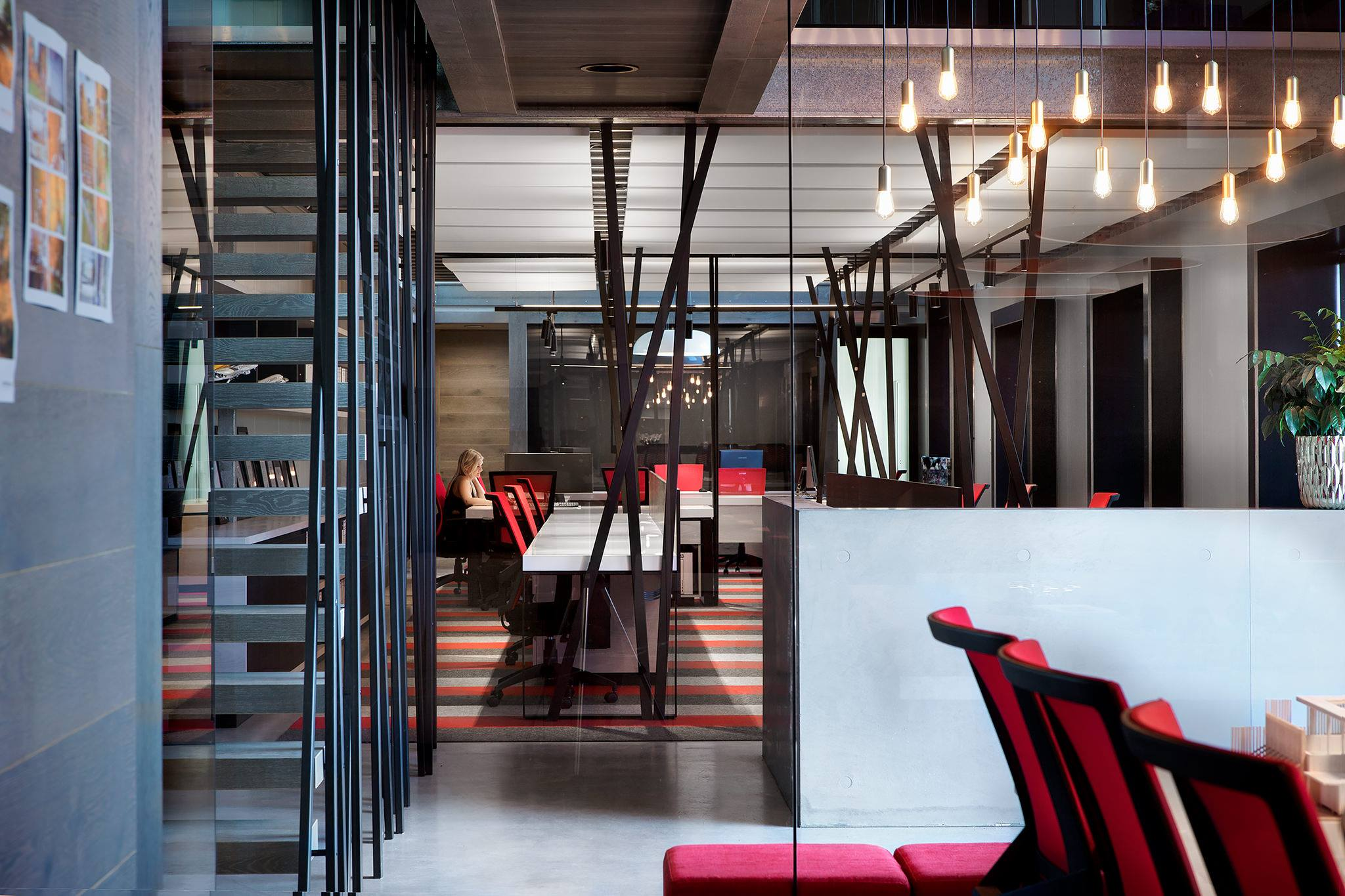 Large modern office with high ceilings and sound proofing